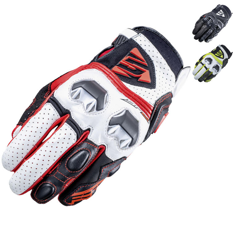 Five SF2 Leather Motorcycle Gloves