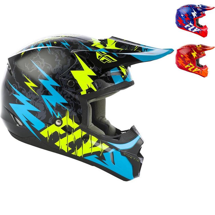 Fly Racing 2019 Kinetic Shocked Youth Motocross Helmet