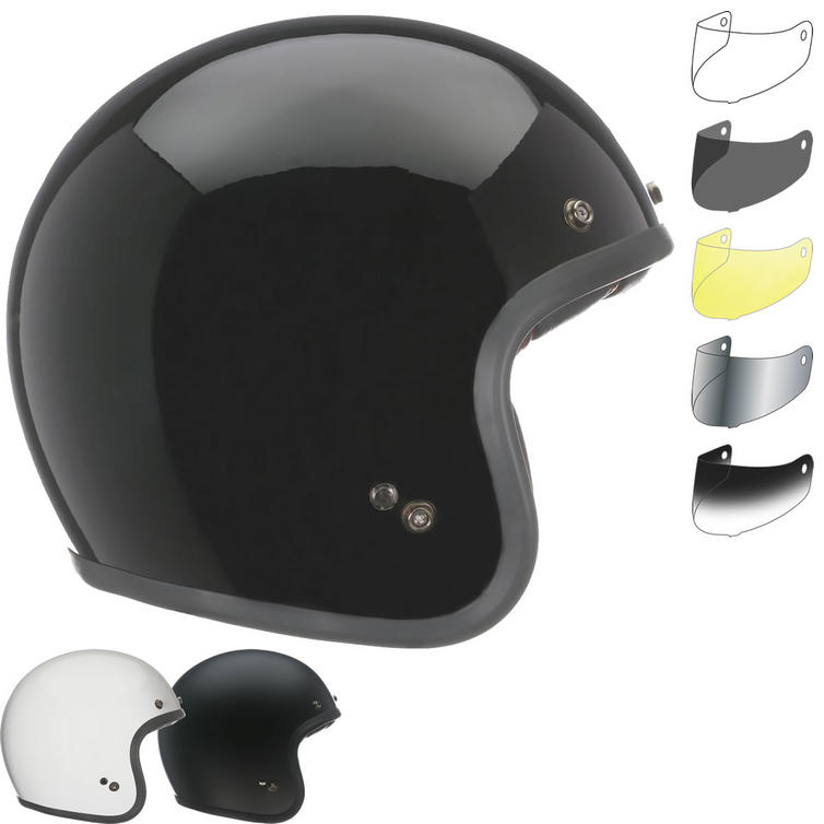 Bell Custom 500 Solid Standard Open Face Motorcycle Helmet & Visor