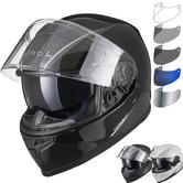 Black Titan SV Solid Motorcycle Helmet & Visor