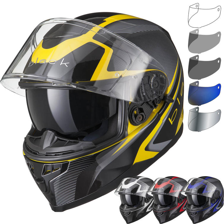 Black Titan SV Edge Motorcycle Helmet & Visor