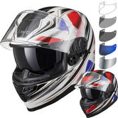 Black Titan SV Union Motorcycle Helmet & Visor