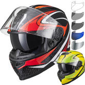 Black Titan SV Charge Motorcycle Helmet & Visor