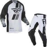 Fly Racing 2019 Evolution DST Motocross Jersey & Pants Black White Kit