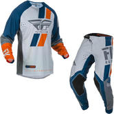 Fly Racing 2019 Evolution DST Motocross Jersey & Pants Navy Grey Orange Kit