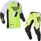 Fly Racing 2019 Evolution DST Motocross Jersey & Pants Hi-Vis Black White Kit