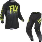 Fly Racing 2019 Lite Hydrogen Motocross Jersey & Pants Black Hi-Vis Kit