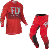 Fly Racing 2019 Lite Hydrogen Motocross Jersey & Pants Red Grey Kit