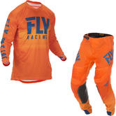 Fly Racing 2019 Lite Hydrogen Motocross Jersey & Pants Orange Navy Kit
