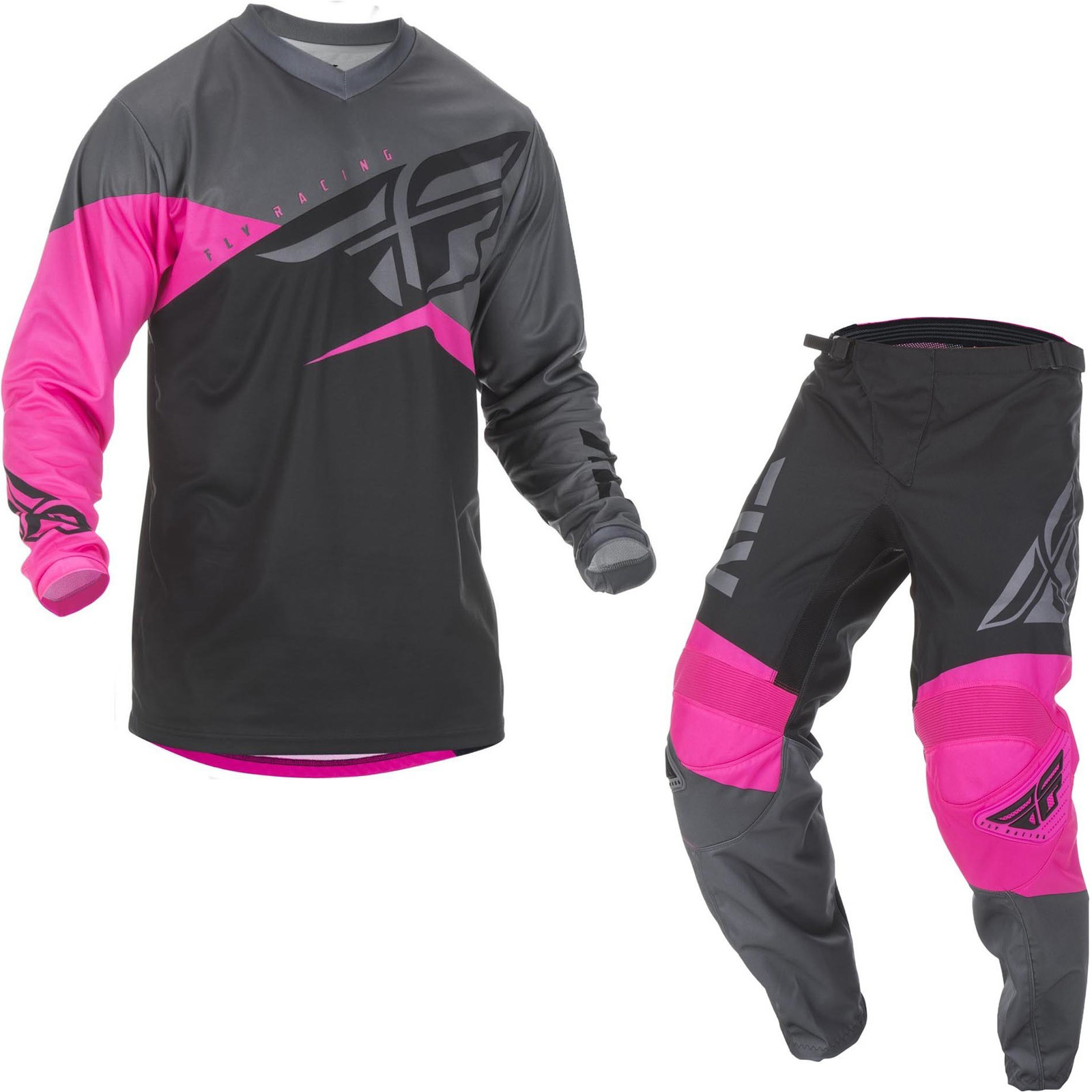 Fly Racing 2019 F 16 Motocross Jersey Pants Neon Pink Black Grey