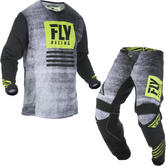 Fly Racing 2019 Kinetic Noiz Youth Motocross Jersey & Pants Black Hi-Vis Kit