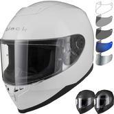 Black Titan Solid Motorcycle Helmet & Visor
