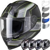 Black Titan Speed Motorcycle Helmet & Visor