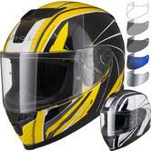 Black Titan Hornet Motorcycle Helmet & Visor