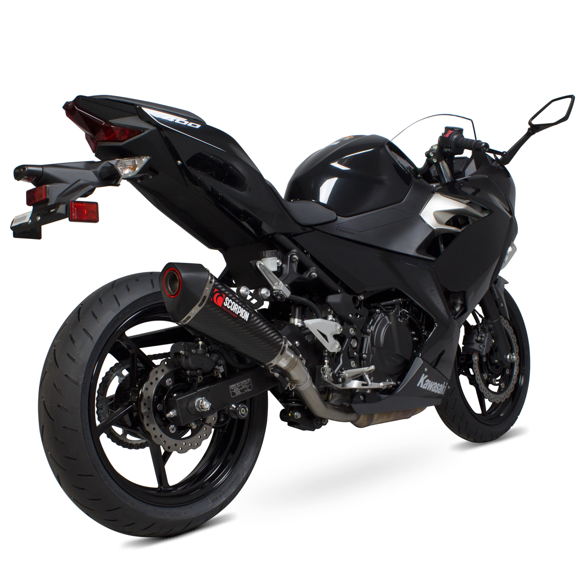 Details about Kawasaki Ninja 400 2018 - 2019 Scorpion Serket Taper Bike  Carbon Slip On Exhaust
