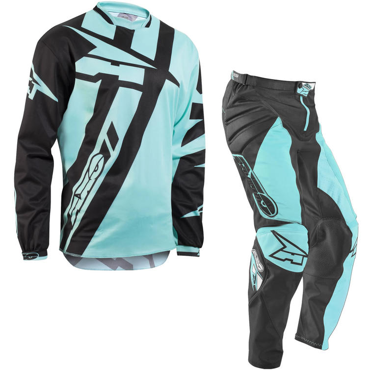 Axo Motion 4 Motocross Jersey & Pants Black Blue Kit