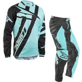 Axo Motion 4 Motocross Jersey & Pants Black Blue Kit