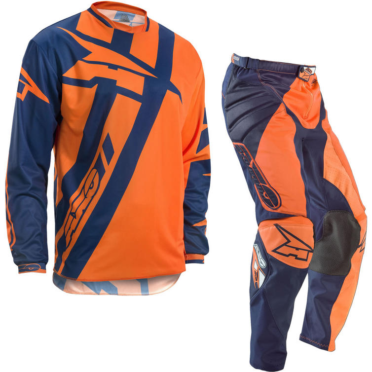 Axo Motion 4 Motocross Jersey & Pants Blue Orange Kit