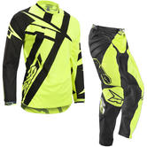 Axo Motion 4 Motocross Jersey & Pants Black Yellow Kit