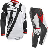 Axo Motion 4 Motocross Jersey & Pants White Black Red Kit