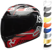 Bell Qualifier DLX MIPS Isle Of Man 18 Motorcycle Helmet & Visor