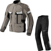 Rev It Defender Pro GTX Motorcycle Jacket & Trousers Sand Black Black Kit