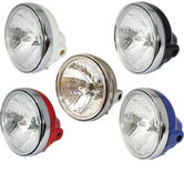 Bike It Universal Round Motorcycle Headlight