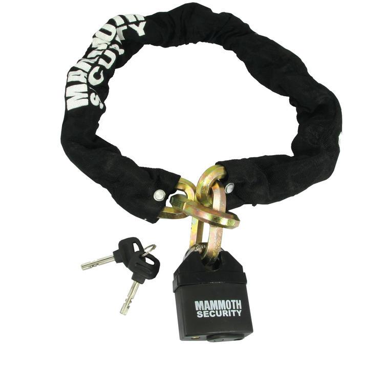 Bike It Mammoth Hexagon Chain and Lock 1m