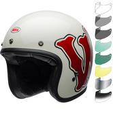Bell Custom 500 SE RSD WFO Deluxe Open Face Motorcycle Helmet & Visor