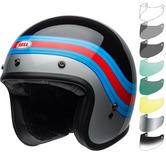 Bell Custom 500 Pulse Deluxe Open Face Motorcycle Helmet & Visor