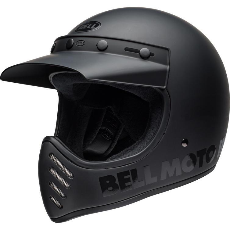 Bell Moto-3 Classic Blackout Motorcycle Helmet