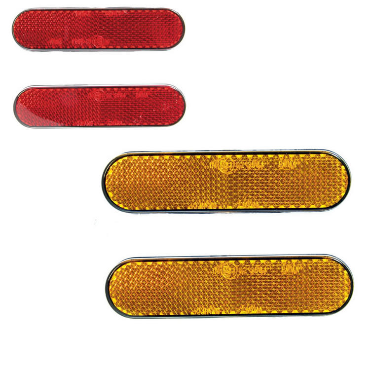 Bike It Self Adhesive Safety Reflectors (Round End)