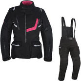 Oxford Montreal 3.0 Ladies Motorcycle Jacket & Trousers Tech Black Black Kit