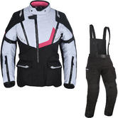 Oxford Montreal 3.0 Ladies Motorcycle Jacket & Trousers Black White Pink Black Kit
