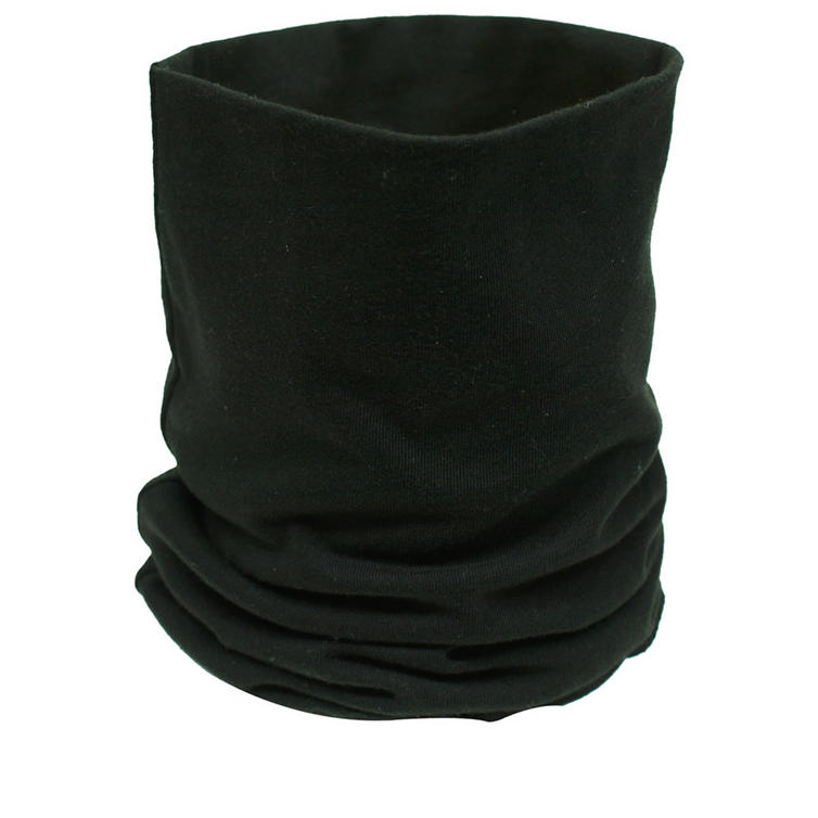 Black Cotton Neck Tube