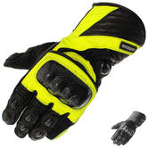 Black Element Thermal Leather Motorcycle Gloves