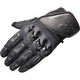 Black Terrain Short Motorcycle Gloves