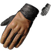 Black Freedom Short Leather Motorcycle Gloves