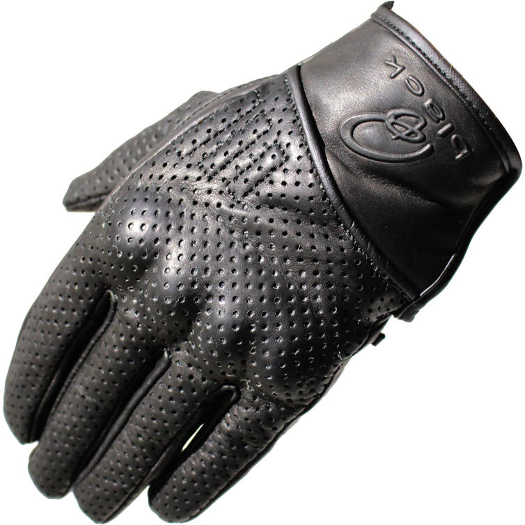Black Cyclone Short Leather Motorcycle Gloves