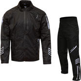 Merlin Rain Motorcycle Over Jacket & Trousers Black Kit