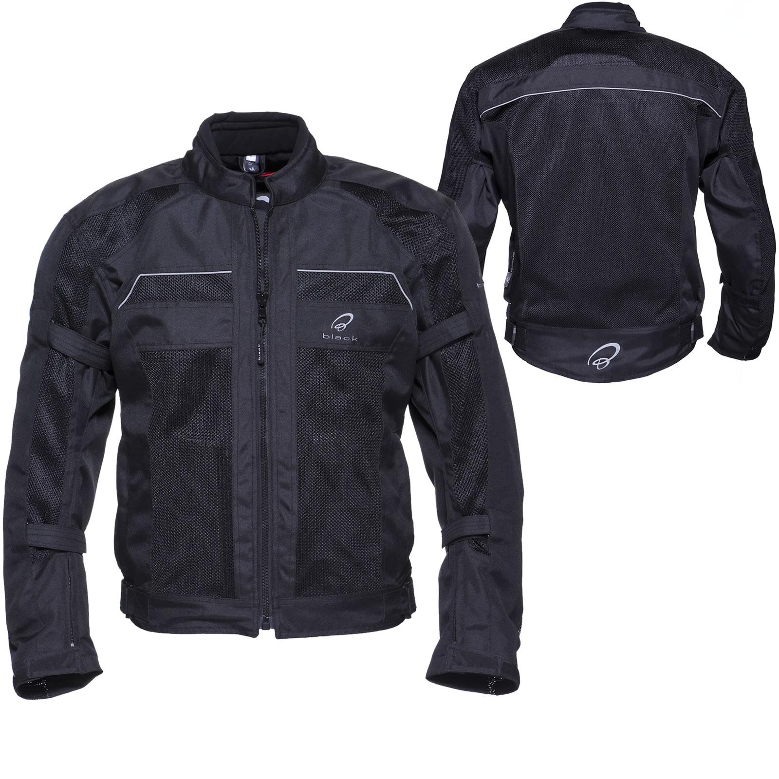 Black Piston Motorbike Short Summer Scooter Mesh Motorcycle Jacket