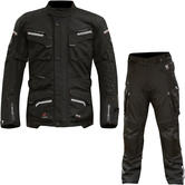 Merlin Lynx Outlast Airbag Ready Motorcycle Jacket & Trousers Black Kit