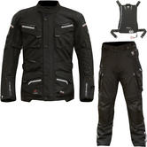 Merlin Lynx Outlast Airbag Ready Motorcycle Jacket & Trousers Black Kit (with Free Integrated Airbag)