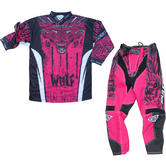Wulf Aztec Cub Kids Motocross Jersey & Pants Pink Kit
