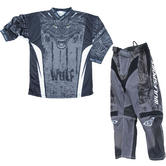 Wulf Aztec Cub Kids Motocross Jersey & Pants Grey Kit