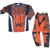 Wulf Aztec Cub Kids Motocross Jersey & Pants Orange Kit