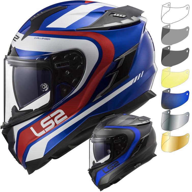 LS2 FF327 Challenger Fusion Motorcycle Helmet & FREE Visor