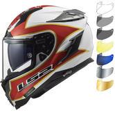 LS2 FF327 Challenger Foggy TT Motorcycle Helmet & FREE Visor