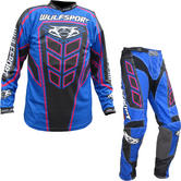 Wulf Axium Adult Motocross Jersey & Pants Blue Kit