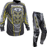 Wulf Axium Adult Motocross Jersey & Pants Grey Kit